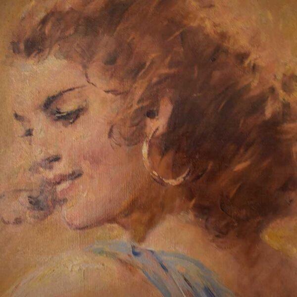 Pintura-antigua-autor-desconocido-bailarina